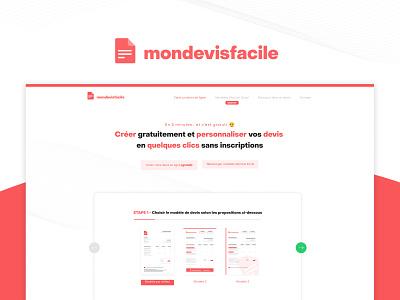 Branding @Mondevisfacile logo typography illustrator identity flat emoji red webdesign branding design builder software app saas document invoice accounting