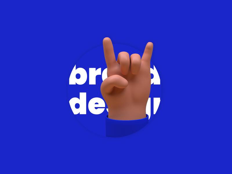 Brand design by Arthur Lmbrt flat identity design character 3d character 3d art rounded sea bleu arthurlmbrt branding and identity rock 3d brand brand design branding