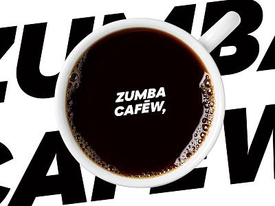 Zumba cafew character brand black and white black jul zumba cafe coffee minimal illustration flat identity design branding