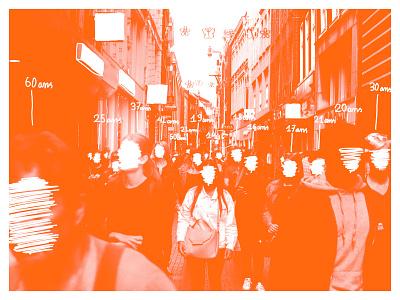 Age. identity art website clean brand design character minimal flat branding monochromatic photography street people orange colors age