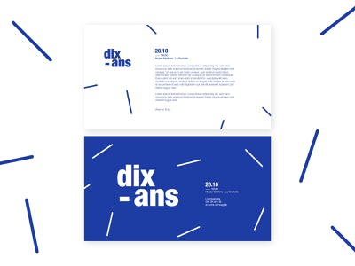 Dixans anniversary lettering identity illustration flat typography clean illustrator brand design branding minimal birthday card anniversary birthday