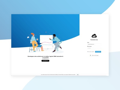 Login wave blue dashboard sellsy colors webdesign landing web branding character illustrator flat identity design brand illustration branding design login page login