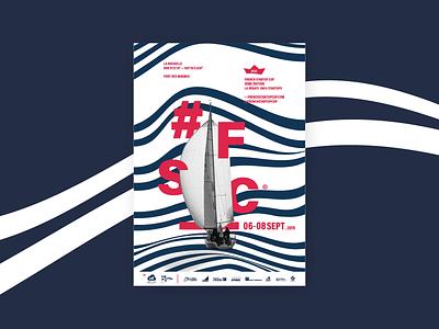 join with your startup illustration minimal identity design branding edition lines red bateau startups regate regata boat french startup fsc