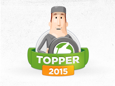 BesteGarage.nl Topper 2015 badge automotive weel car topper 2015 thumb karakter garage 3d