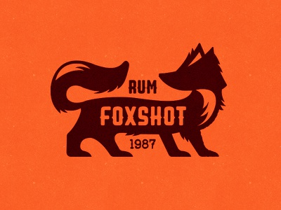 Foxshot Rum logo alcohol whiskey shots drink fox brown orange red bottle rum dutch