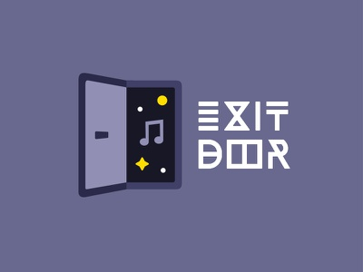 Logo Exit Door - Music and Video type dutch video music icon logo letter space door exit
