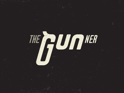 The Gunner Typography logo font type black bullet hitman shoot typography poster movie logo gunner gun