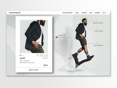 DailyUI #012 E-commerce shop / single item web design fashion product shop landing page webdesign ecommerce 012 dailyui