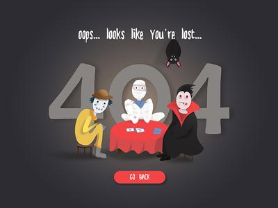 DailyUI 008 - Error 404 page
