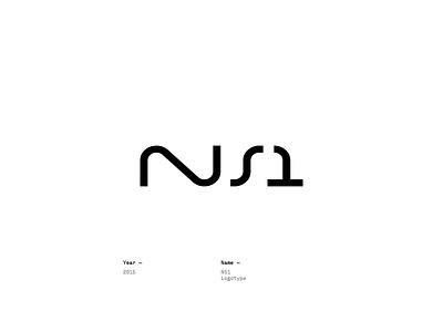 NS1 design logotype lettering logo