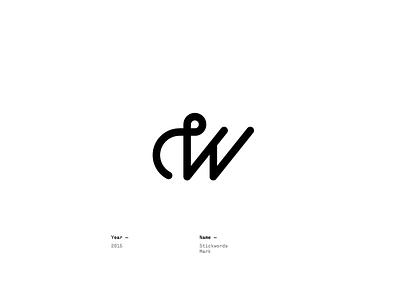 Stickwords mark design logotype lettering logo