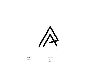 AP mark design logotype lettering logo