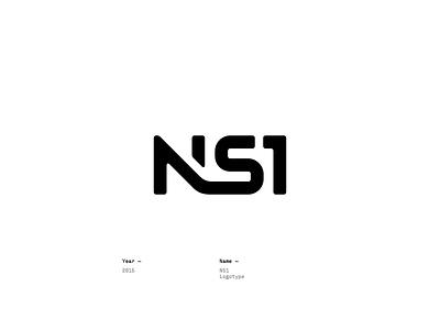 NS1 #2 design logotype lettering logo