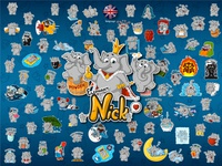 Nick. Stickers elephants