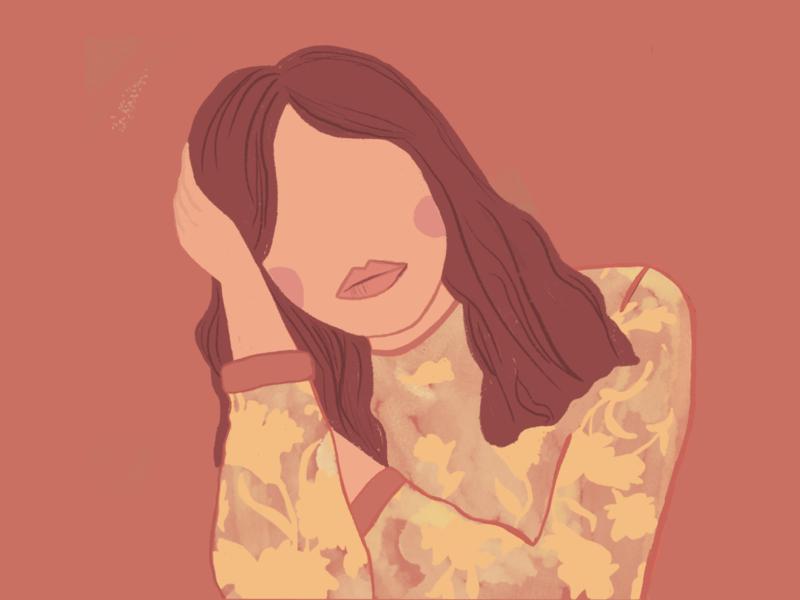 Friday night melancholy katrin kohl kati kohl portugal lisbon flowers melancholy girl procreate art illustration art illustration