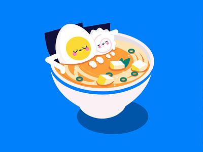 Ramen hot yummy tofu miso egg boil swim pool relax bath hot tub noodles noodle soup ramen food kawaii kawai