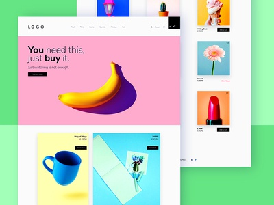 Just buy it products ux ui page website userinterface pastel minimal shop
