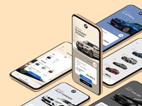 BMW Concept App concept design idea tech automotive vehicle iphonex apple app car bmw branding simple design minimal clean shop interface