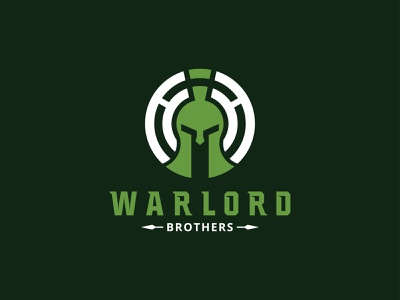 Warlord Brothers popular recent icon typography minimal creative flat design logo sparta spartan branding brothers warlord