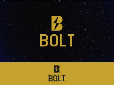 Bolt Logo grid logo design b bolt minimal graphic design icon branding creative logo