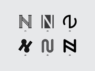 Letter N branding vector monogram dribbble minimal icon font flat design logo lettering creative