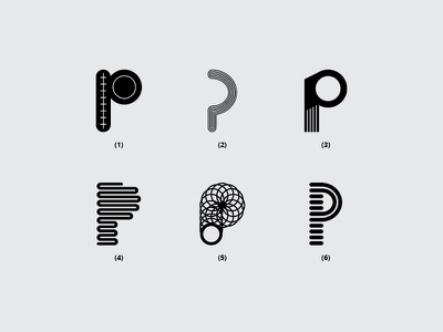 Letter P p branding illustration typography font flat dribbble monogram minimal logo design lettering creative
