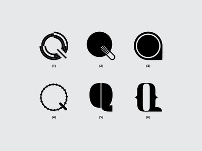 Letter Q branding vector illustration typography monogram dribbble minimal icon font design logo flat lettering creative
