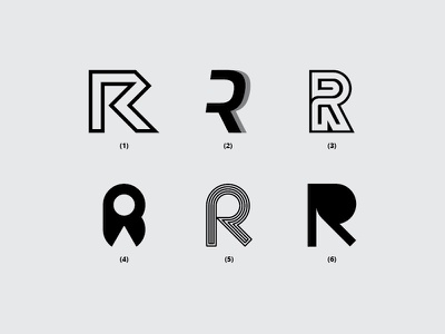 Letter R r vector illustration typography monogram dribbble minimal icon font design logo flat lettering creative