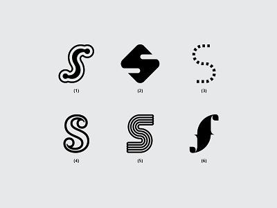 Letter S s minimal illustration dribbble typography font monogram design flat logo lettering creative