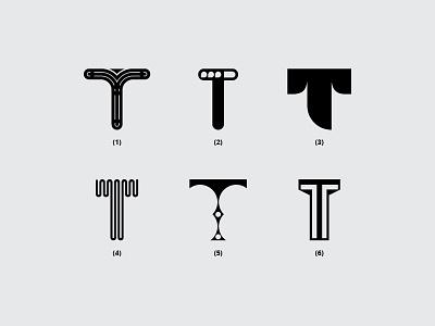 Letter T icon t font vector illustration typography monogram minimal dribbble creative design flat logo lettering