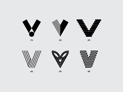 Letter V v monogram dribbble minimal icon font design flat logo lettering creative