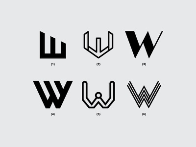 Letter W branding vector w illustration typography dribbble monogram minimal icon font design flat logo lettering creative