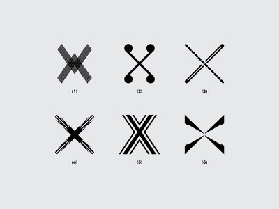 Letter X x font branding typography monogram minimal icon design flat logo lettering creative