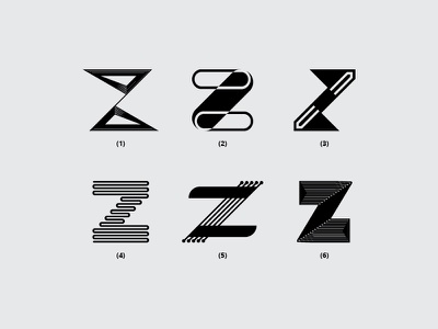 Letter Z z vector branding illustration typography dribbble monogram minimal icon font design flat logo lettering creative