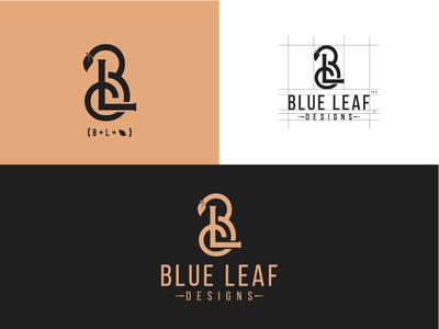 Blue Leaf Design