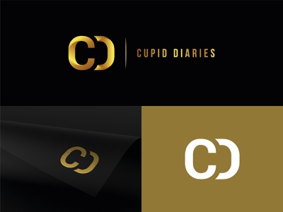 Cupid Diaries typography dribbble minimal monogram design icon lettering logo creative c dc cd diaries cupid