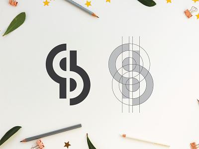 Sp Monogram typography icon monogram ps sp flat design minimal dribbble font logo lettering creative