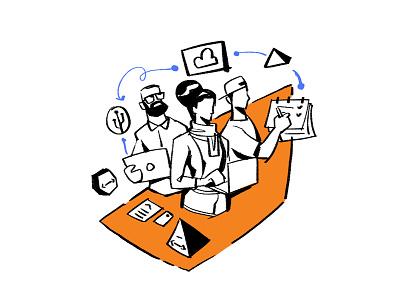 Concept branding flat design art doodle character characterdesign concept illustration