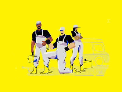 plumber 2 art ui doodle character flat characterdesign design concept illustration