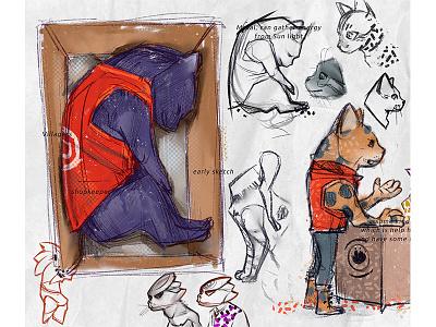 Cats fun doodle cartoon character flat characterdesign design art concept illustration