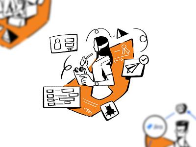 Concept flat branding character characterdesign design art concept illustration