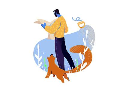 Do you read cute doodle character cartoon flat characterdesign design art concept illustration