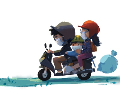 2021 motorbike family guy concept art design characterdesign cartoon illustration