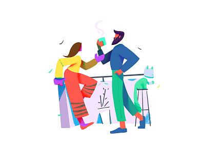 Common space ecommerce branding ui character flat characterdesign design concept illustration