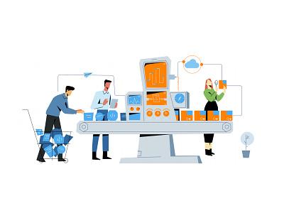 Management Platform vector ui character branding design art flat characterdesign concept illustration