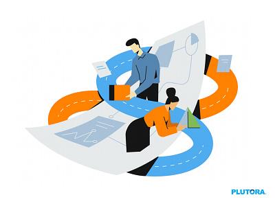 Managing Pipeline webillustration ui vector character art branding design flat characterdesign concept illustration