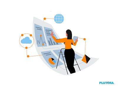 Digital Transformation web illustration flat characterdesign design art concept illustration