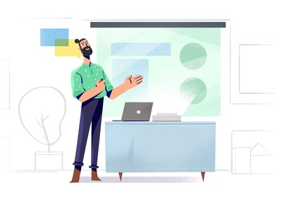 presentation doodle inappillustration ui charcters sketch spotillustration concept illustration
