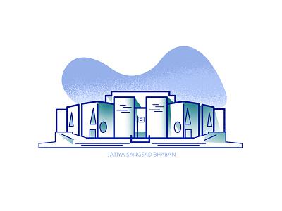 Jatiya Sangsad Bhaban icon national parliament house bangladesh architecture.dhaka place flat minimal