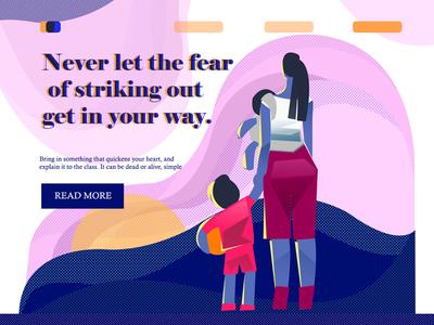 Never Let app web flat webillustration lineart concept illustration love